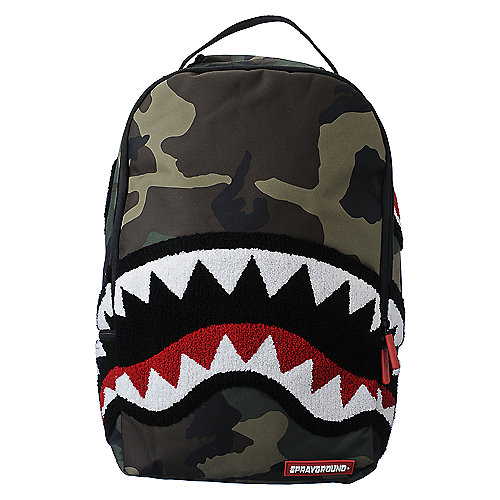 Sprayground Woodland Shark accessories backpack
