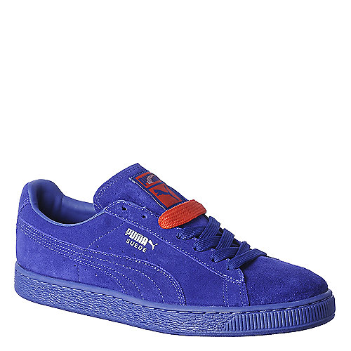 Puma Mens Suede Classic+ blue casual lace up sneaker