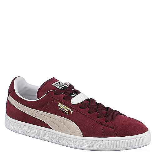 Puma Suede Classic+ Men s Burgundy Casual Lace-Up Sneakers  84fe056cd