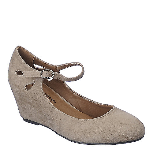 Classified Tylee-S taupe casual wedge shoe