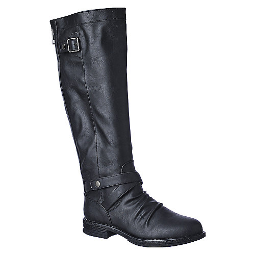 Madden Girl Zuzu mid calf low heel riding boot