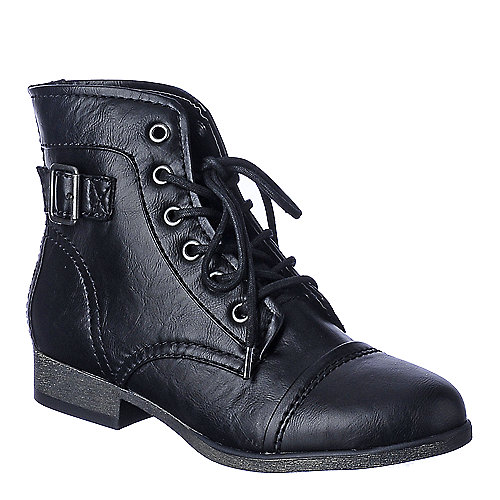 Madden Girl Armie womens combat low heel ankle boot