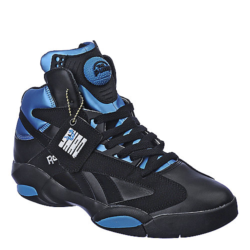 Reebok Mens Shaq Attaq Black Athletic Basketball Shoes