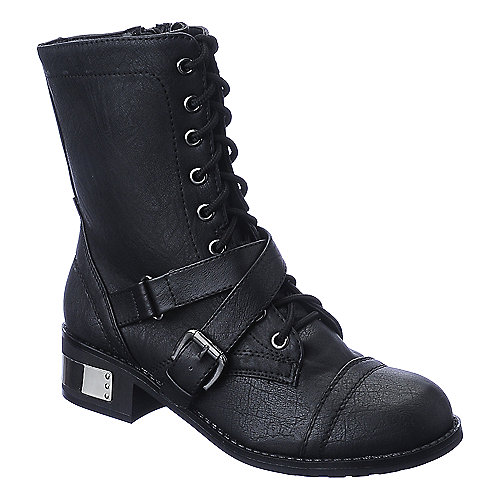 Soda Mask-H womens mid calf combat boot