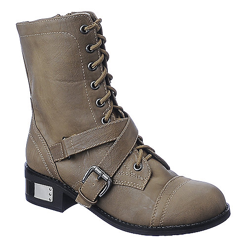 Soda Mask-H womens combat mid calf boot