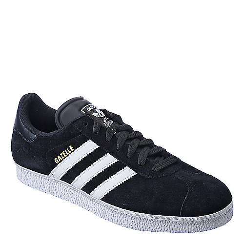 Adidas Gazelle II mens black and white athletic lifestyle sneaker