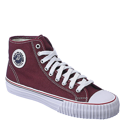PF Flyer Mens Center Hi Reissue burgundy casual sneaker