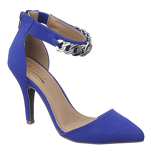 Glaze Willow-20 womens blue high heel dress shoes