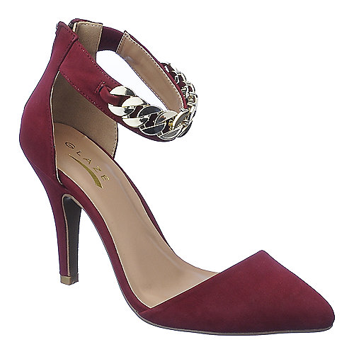 Glaze Willow-20 womens burgundy high heel dress shoes