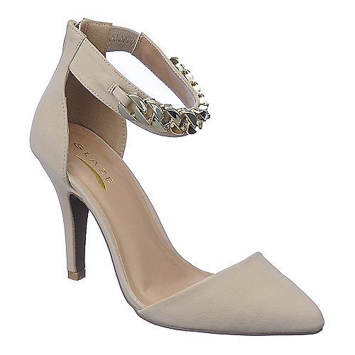 Glaze Willow-20 womens nude high heel dress shoes