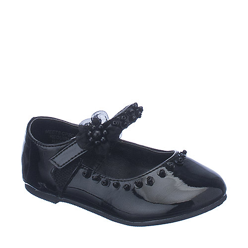 Happy Soda Veer 2 SQ black toddler flat shoes