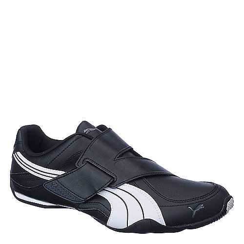 Puma Mens Mena Attaq black athletic running shoe