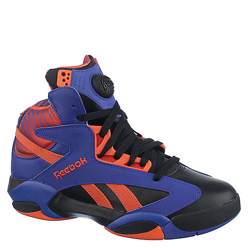 Reebok Mens Shaq Attaq purple athletic basketball shoes
