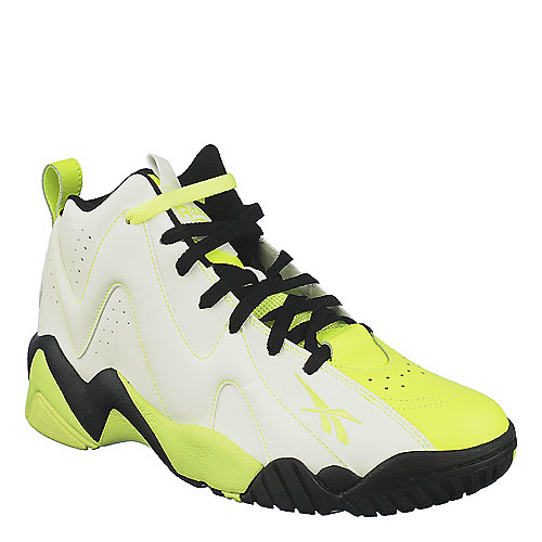 Reebok Mens Kamikaze 2 white yellow basketball shoe