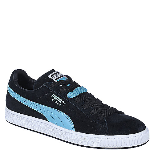 Puma Mens Suede Classic black lace up casual sneaker