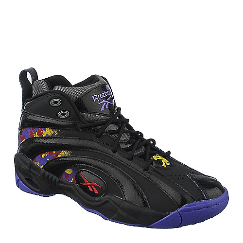 Reebok Mens Shaqnosis OG mens black purple athletic basketball sneaker