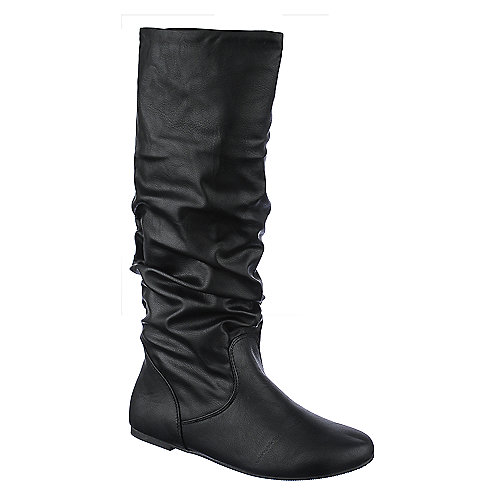 Soda Womens Zulu-s black mid calf slouch boot