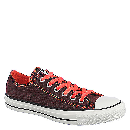 Converse Womens Chuck Taylor OX red casual lace up sneaker