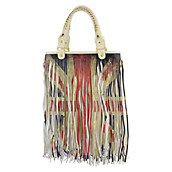 Bone Fringe Handbag
