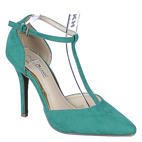 Anne Michelle Womens Momentum-40 green high heel