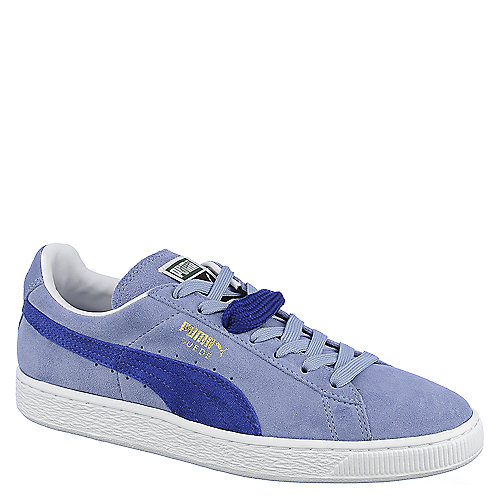 Puma Mens Suede Classic+ blue lace up casual sneaker