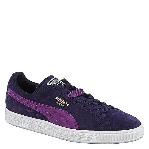 Puma Mens Suede Classic+ purple lace up casual sneaker