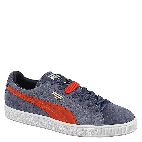 Puma Mens Suede Classic + grey lace up casual sneakers
