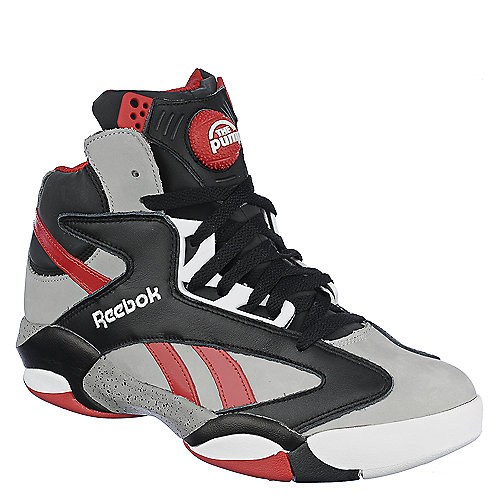 Reebok Mens Shaq Attaq Grey Athletic Basketball Shoe