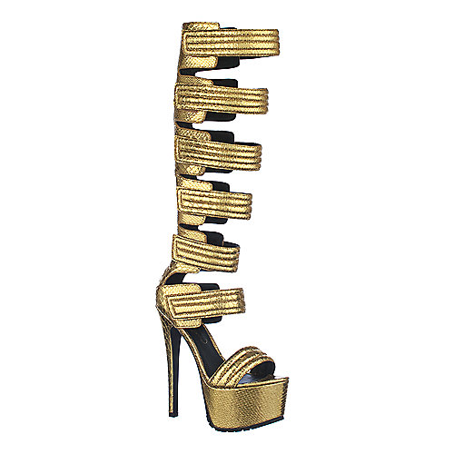 Privileged Womens Get High gold high heel platform