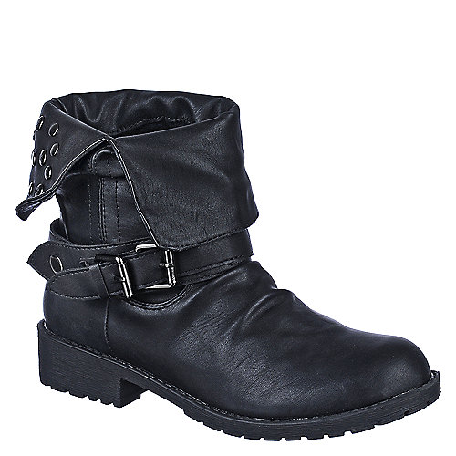 DbDk Womens Sotila-6 black low heel ankle riding boot