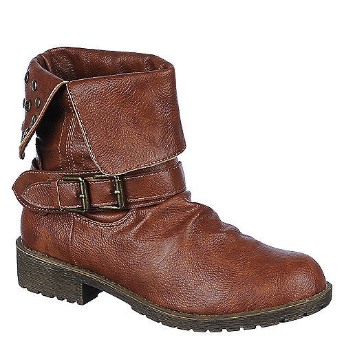 DbDk Womens Sotila-6 brown low heel ankle riding boot | Shiekh Shoes