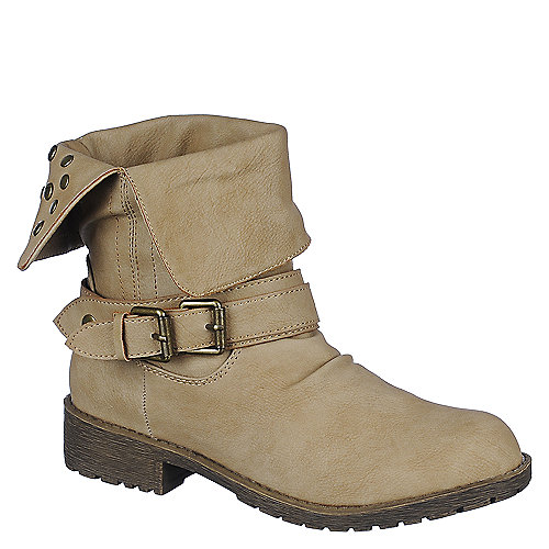 DbDk Womens Sotila-6 taupe low heel ankle riding boot