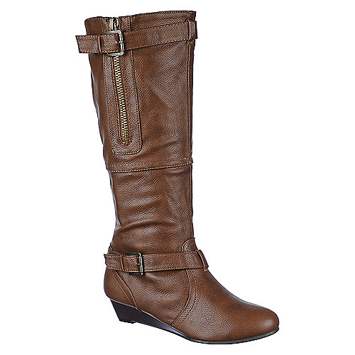 48e92b2b2617 Buy Bamboo womens Tamara-62 knee high wedged boots