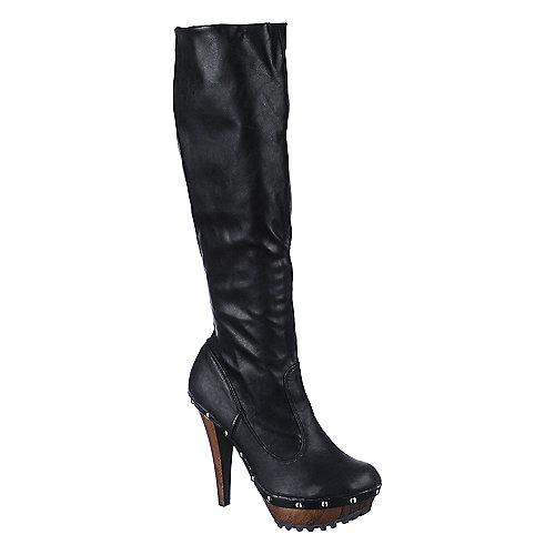 be3ffbc28833 Dollhouse Socca Women s Black Thigh High Boots