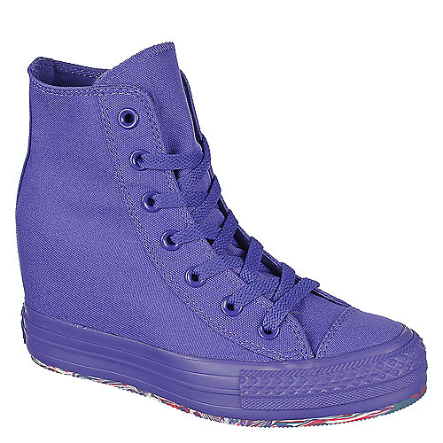 baa9d378fe5c Converse Chuck Taylor Platform purple lace up wedge sneaker
