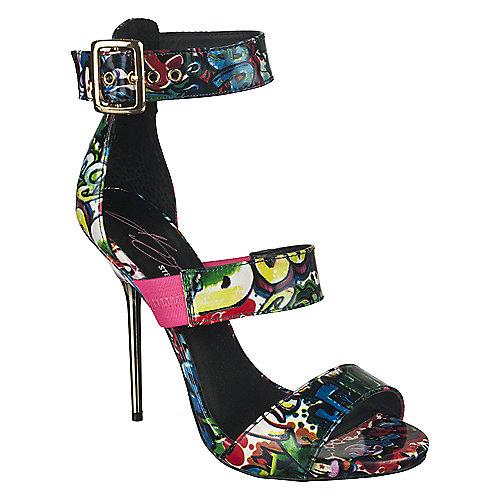 8a6217a59a8 Keyshia Cole by Steve Madden Womens Telme graffiti high heel ...