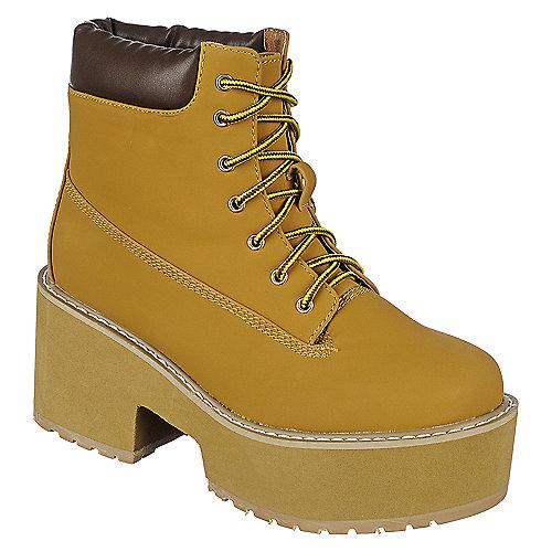8d955855c3bf Camel Women s Platform Lace-Up Boot JL 5002-1