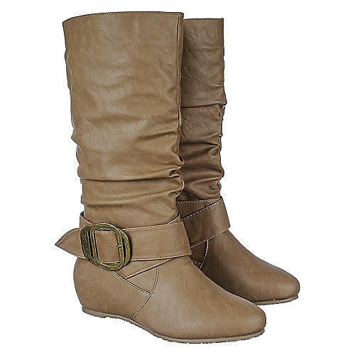shiekh candies 76a s taupe mid calf boots shiekh shoes