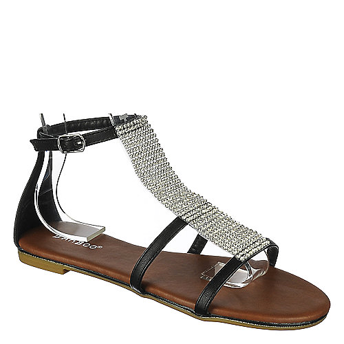 34d3d914a Buy Bamboo Womens Laguna-39 flat jeweled sandals