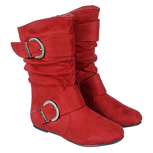 fb14cb393312d ... Girl Snow Boots Kids Pink Autumn Korean Red Big  Shiekh Kali-11 Girls  Red Boots Shiekh Shoes ...