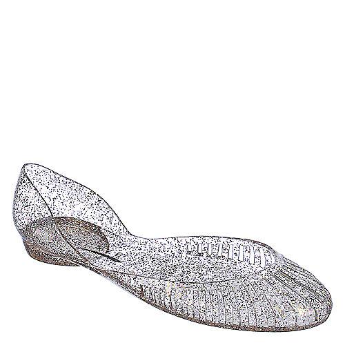 Glaze Womens Alaska 5 Clear Glitter Jelly Flat Shiekh Shoes