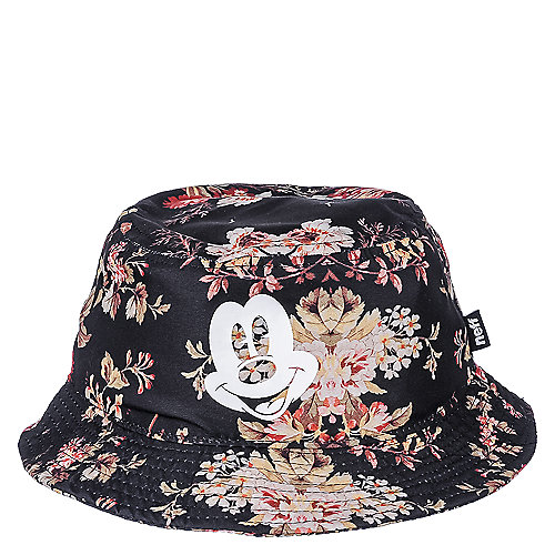 Neff Black Multi-Color Mickey Floral Bucket Fisherman Hat 5457ed9fbfa