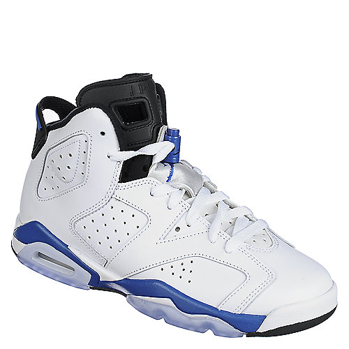 5f526fb0d0e Jordan Air Jordan 6 Retro Youth Kids White and Blue Athletic ...