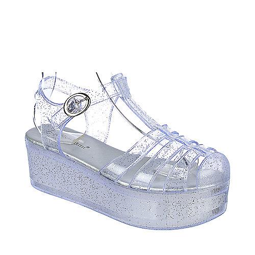 18b3e3b9d311 Nature Breeze Disco-01 Women s Clear Platform Sandal