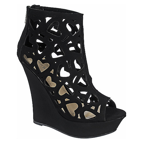 Bamboo Dreamer-39 Black womens platform wedge dress shoe | Shiekh ...