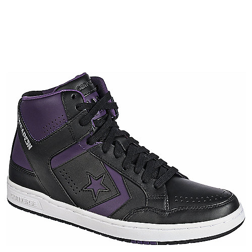 d4e3b6752854 Converse Weapon  86 Mid Mens Black and Purple Athletic Basketball ...