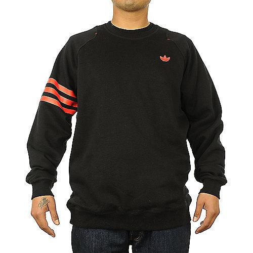 sale retailer 86cbb d99f6 adidas. Black Red Men s Sport Luxe Crew Neck Sweater