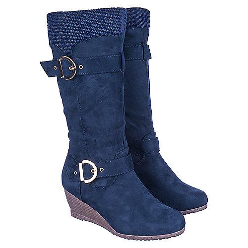 0d061ec96afb Shiekh Navy Women s Wedge Pocket Boot Monicca 3 S