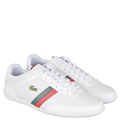 41247e74679f9 Lacoste White Red Green Men s Casual Sneaker Giron Pri
