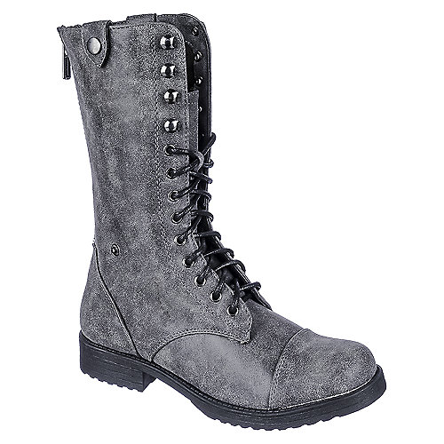 Dollhouse Women's Lace-Up Combat Boot VODOO